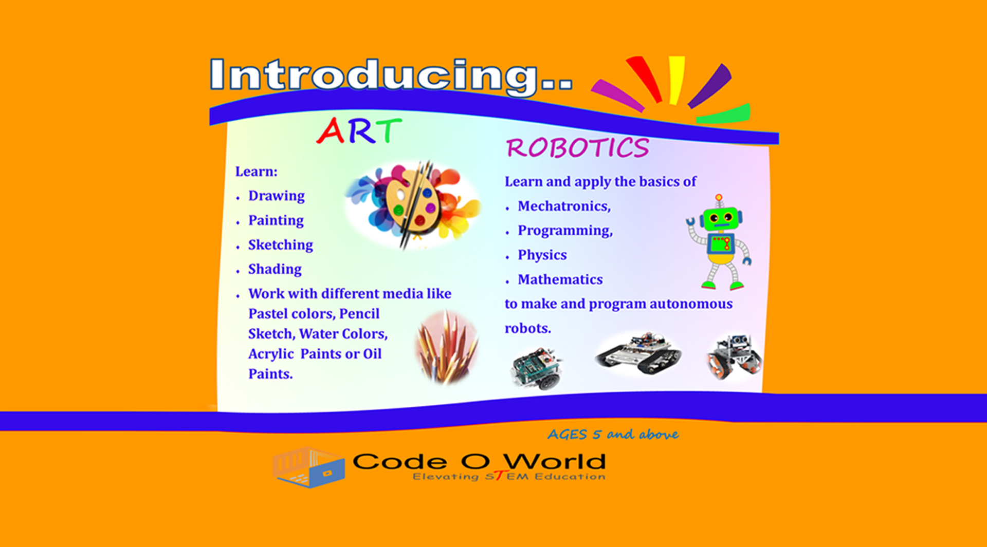 Coding For Kids_Code O World_ART_Robotics